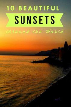 10 best sunset watching locations around the world.