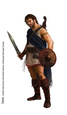 Ancient Iberian warrior by Nacho Molina Ancient Rome, Ancient Greece, Ancient History, Greek Warrior, Fantasy Warrior, Character Concept, Character Art, Concept Art, Iron Age