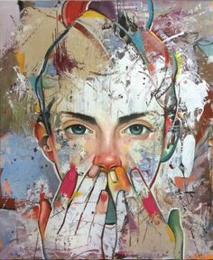 """Touch""  160cm x 130 cm (Oil on canvas) 2013.  * Available #art #Figurative #paintings #figures #faces #portraits #hands #korubin #mihail #oil #canvas #Touch"