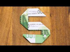 Geldschein falten Zahl 5, Origami Geldgeschenk Tutorial, Nummer 5/10 - YouTube