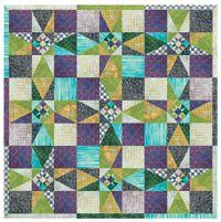 Free Quilt Pattern: Stars at Dusk, designed by QN Senior Designer Kathryn Wagar Wright--sponsored by Troy and Pfaff