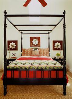 -Martyn Lawrence Bullard Designs    Cannon Ball Bed & Fatima Mirrors designed by MLB Design
