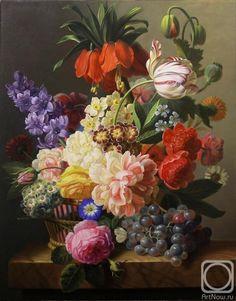 Бейшеев Кемель. Цветы в корзине