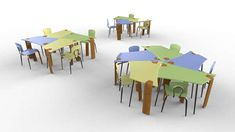The Synthesis Collaborative Desk is Made for Both Individuals and Groups #classroom #furniture trendhunter.com                                                                                                                                                                                 More