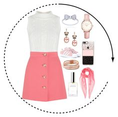 """""""Rosy cheeks"""" by harperruby on Polyvore featuring Miu Miu, Topshop, Effy Jewelry, Casetify, adidas Originals, Betsey Johnson and Alexander McQueen"""