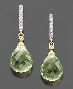 Green Quartz Earrings From Macys.com