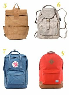 I LOVE numba six. Baggu.  Somtimes a backpack is great to have while traveling.