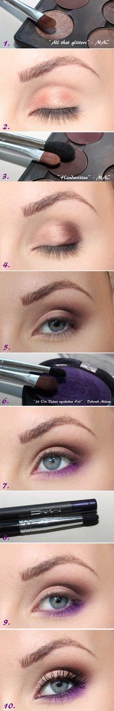 Brown-purple make-up