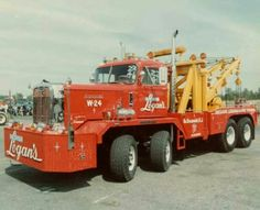 Autocar Twin Steer  and a home made recovery unit.