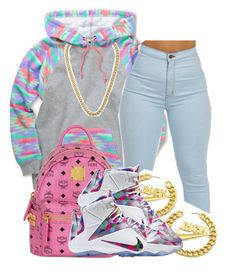 """."" by clinne345 ❤ liked on Polyvore featuring moda, Neff, MCM, NIKE y Kenneth Jay Lane"