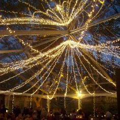 A roundup of the most spectacular and romantic fairy/twinkle light pics. (Image via Full Scale Events)