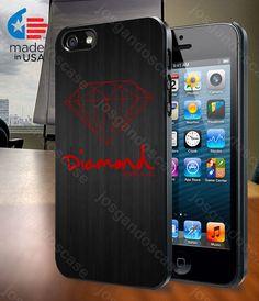 Red Diamond Supply Co Dark Wood for iPhone 4/4S by josgandoscase, $14.79