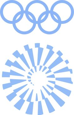 Logo of the 1972 Olympic Games - Munich, West Germany