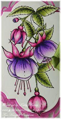 Joyfully Made Designs: Fuchsia Cluster - Heartfelt Creations