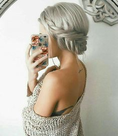 Omg I wish I could do this! Prom hair indeed, Pigtail Braids, Two Braids, Updo Hairstyles Tutorials, Ponytail Hairstyles, Prom Hair Updo, Hair Dos, Low Side Ponytails, Little Girl Hairdos, Pretty Little Girls