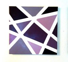Dashing Plum  Hand Painted Wall Art in shades of by WeLoveLove
