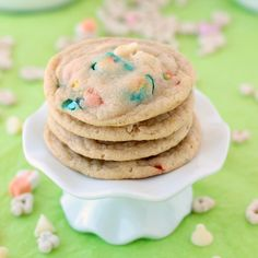White Chocolate Lucky Charms Cookies - The Recipe Rebel