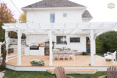 Backyard patio and outdoor kitchen