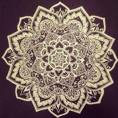 A mandala - they represent the universe and how everything is interconnected