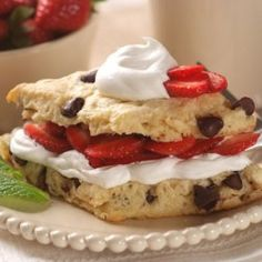 Chocolate Chip Strawberry Shortcake Printable Recipe - My Honeys Place