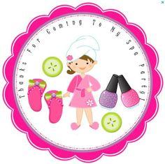 Party Time Spa Fashion, Printables Spa Party, Birthday Printables Spa ...