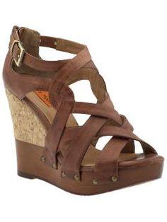 Miz Mooz Kay Ankle-strap Platform Wedge in Whiskey $132