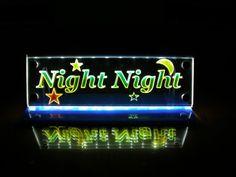 LED lighted night light Multicolor Night by MLSLaserEngraving, $55.00