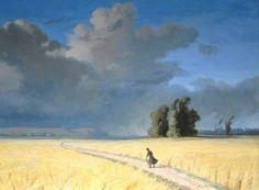 Joséphine Bowes - A Cornfield near Calais circa 1860-1874