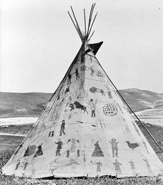 Tipi | ... on hides, tipi liners, cloth, in ledger books, and also on the tipi