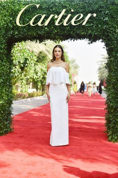 Alessandra Ambrosio in Camilla and Marc and Cartier jewelry.