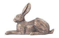 Lying Down Bronze Hare Sculpture Violet Harriet Glen: Amazon.co.uk: Kitchen & Home
