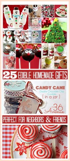 25 ADORABLE Homemade Christmas Edible Gifts. #christmas #recipes (Click Photo)  - - Bookmark Your Local 14 day Weather FREE > www.weathertrends360.com/dashboard No Ads or Apps or Hidden Costs