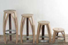 STOOL made of used WINEBARRELS.