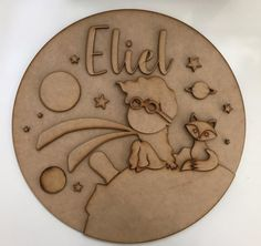 Adorable The Little Prince Handcrafted Wood Sign Custom Wooden Letter Crafts, Wooden Letters, Painted Name Signs, Nursery Wood Sign, Crafty Fox, Baby Name Signs, Wood Cutouts, The Little Prince, Wooden Gifts