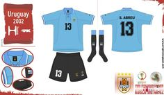Uruguay home kit for the 2002 World Cup Finals.