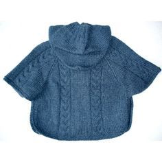tricoter un poncho bebe