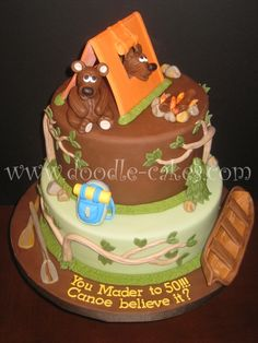 birthday cakes camp theme - Bears are cute