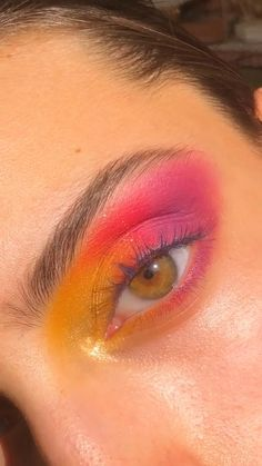 Makeup Eye Looks, Eye Makeup Art, Colorful Eye Makeup, Eyeshadow Looks, Skin Makeup, Make Up Inspiration, Kinky Twists, Beauty Make-up, Creative Makeup Looks