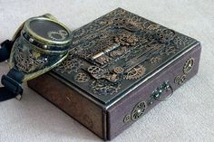 Steampunk Box / steampunk jewelry box / Steampunk /  vintage style / steampunk accessories / victorian / gears / vintage / by steampunk2012 on Etsy