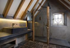 Bathroom with natural elements by Dirk Cousaert Design