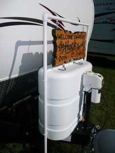 Display your RV personalized sign with a PVC frame
