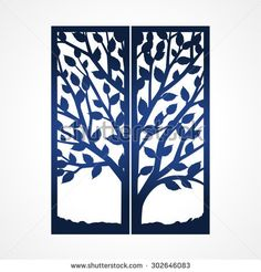 Abstract frame with tree may be used for lasercutting lazercut two fold wedding invitation template with tree suitable for laser cutting lazercut tree card abstract frame with tree die cut card stopboris Gallery