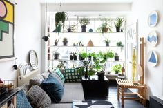 """Rhonda's transformed this one-bed flat in Hackney since renting it a year ago. """"It was pretty disgusting when I took it on and I wanted to cheaply transform it into a space I could relax and enjoy."""""""