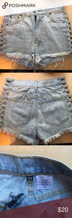 CARMAR side slit shorts Light denim never worn from LF Carmar Shorts Jean Shorts