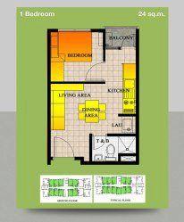 24 sqm unit proposed floor plan