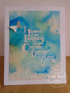 Crafted by Jules: Laughter is the best calorie burner