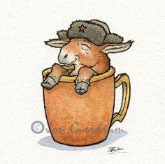Moscow Mule Drinking Buddy Art Print