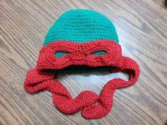 crochet ninja turtle hats free patterns | Ninja Turtle crochet hat. 2012
