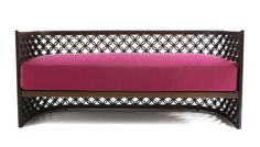 Arabesque Sofa - carved walnut frame in wood or lacquer; Nada Debs - Mondo Collection