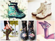 I normally hate floral but I love these boots! Too cute!